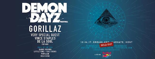 Demon Dayz, festival, Gorillaz, Dreamland, cartel, Margate
