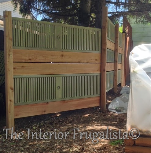 Old Louvered Doors Repurposed Into Garden Screen