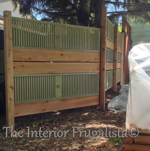 Old Louvered Doors Repurposed Into Garden Screen