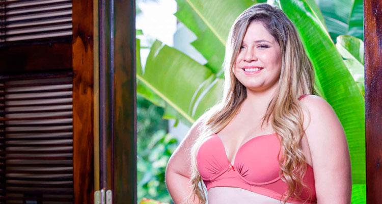 Marília Mendonça posa de lingerie para a coleção de grife Foto: Nayane Rodrigues Lingerie