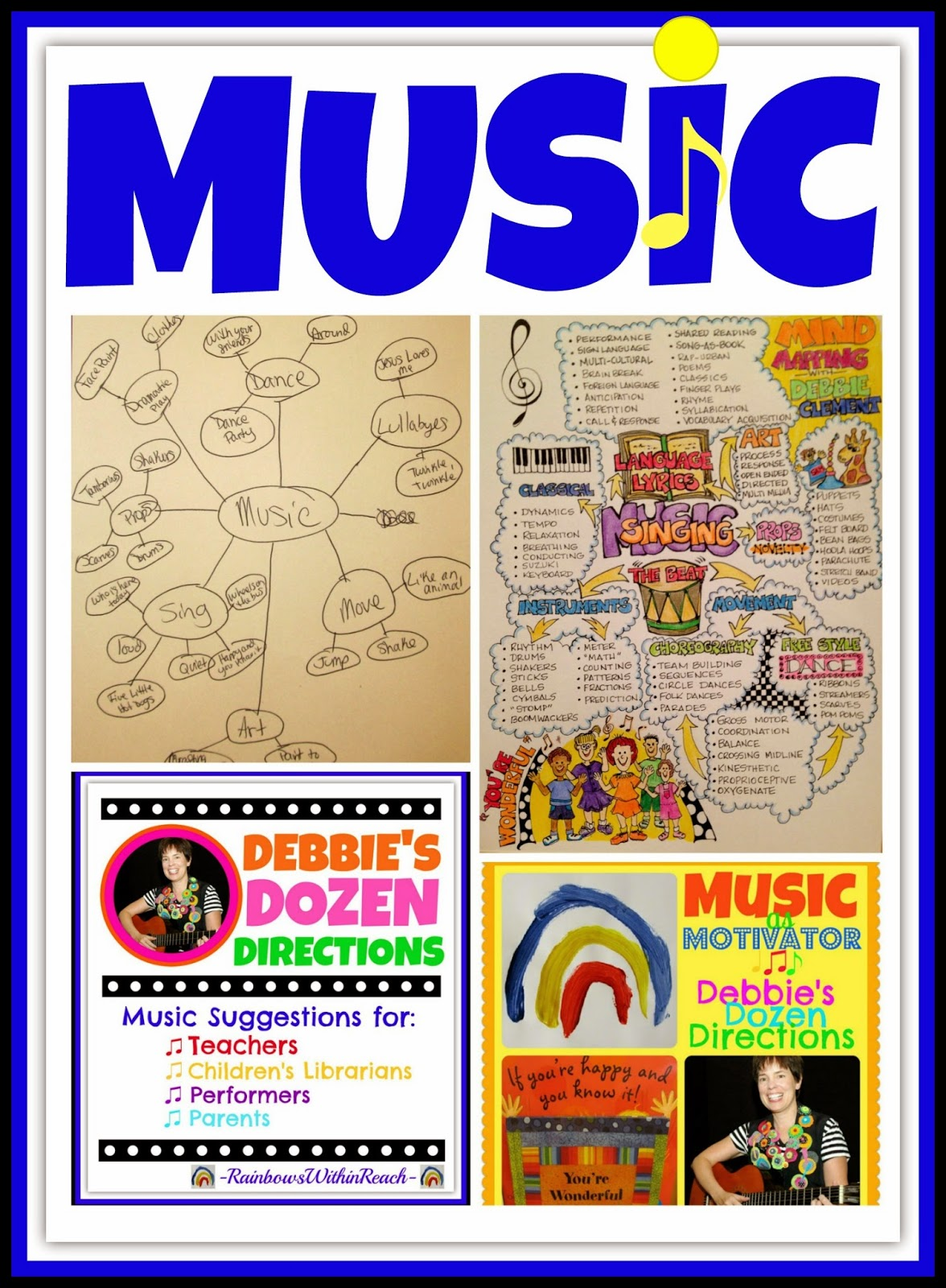 Rainbowswithinreach Mind Mapping Making Music In Early Childhood With Debbie Clement