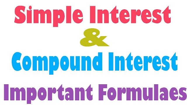 SIMPLE INTEREST AND COMPOUND INTEREST HANDWRITTEN NOTE WITH SOLVED EXAMPLE AND SHORTCUT METHOD