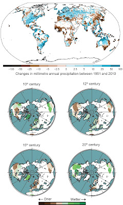 Large variations in precipitation over the past millennium