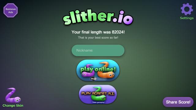 Cara mendapatkan skor terbaik di slither.io