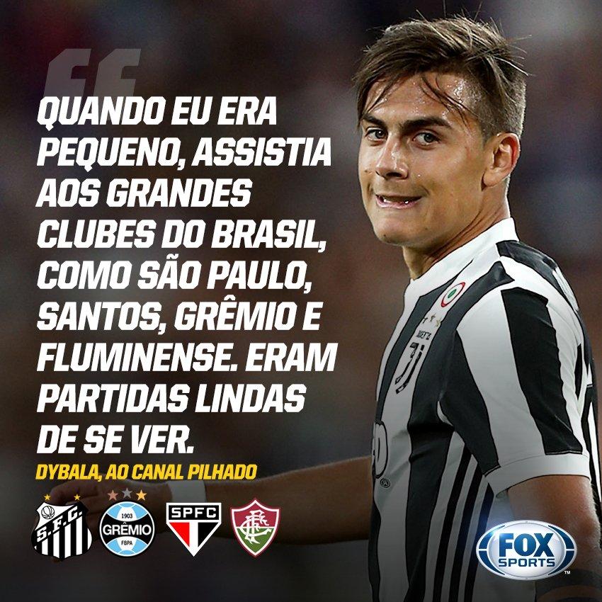 6487fda4a6 Dybala revela que conhece quatro clubes brasileiros e que até já teve  camisas de alguns na coleção
