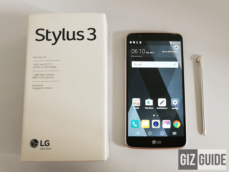 LG Stylus 3 Unboxing And First Impressions