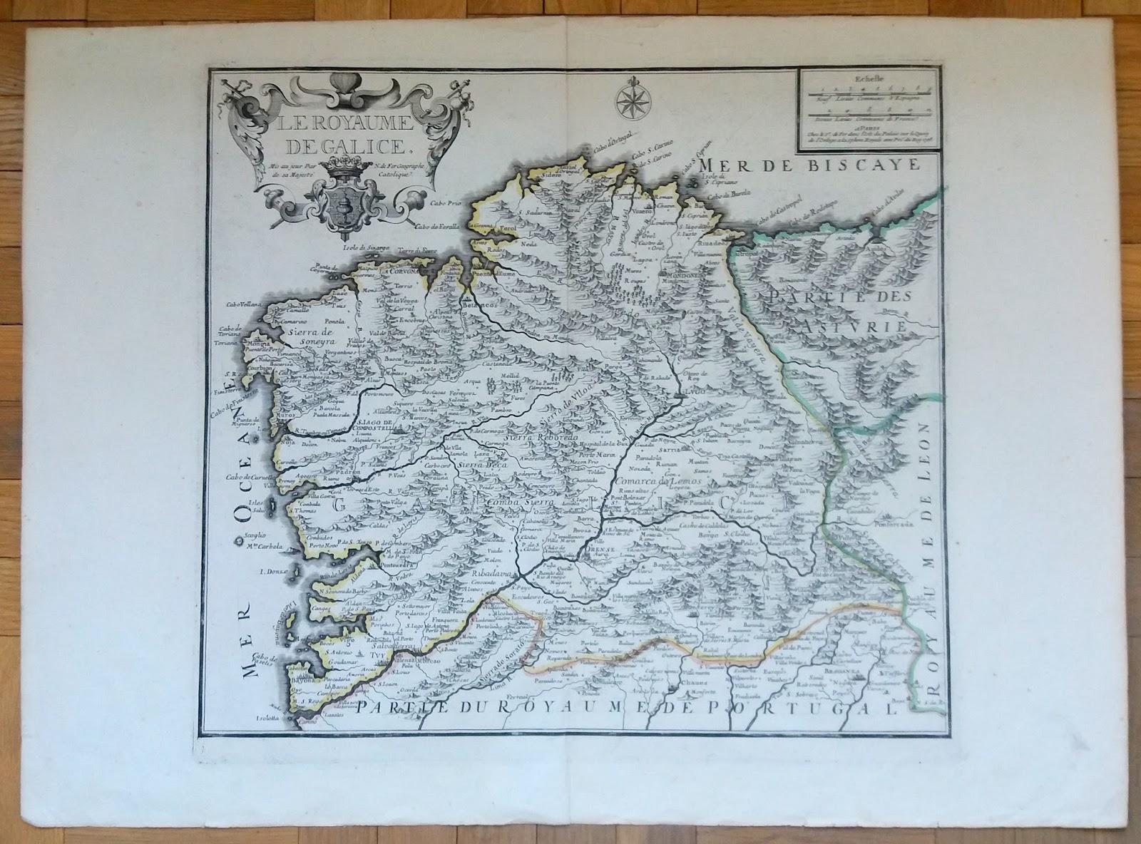 Mapa antiguo Galicia | Mapas antiguos Cartografía histórica