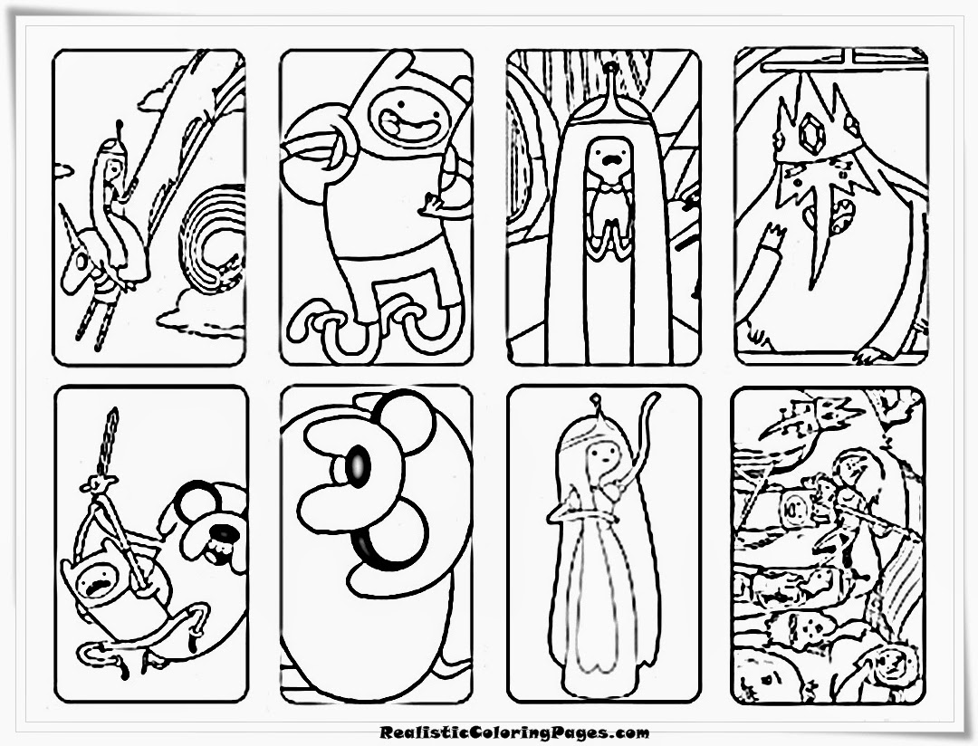Adventure Time Coloring Sheet