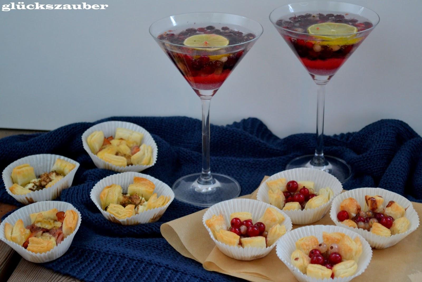gl ckszauber sommerlicher snack abend mit ziegenfrischk se tartelettes k se schinken. Black Bedroom Furniture Sets. Home Design Ideas