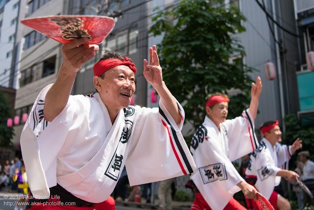 マロニエ祭りで浅草雷連の男踊りの踊り手の一人を撮影した写真 その6