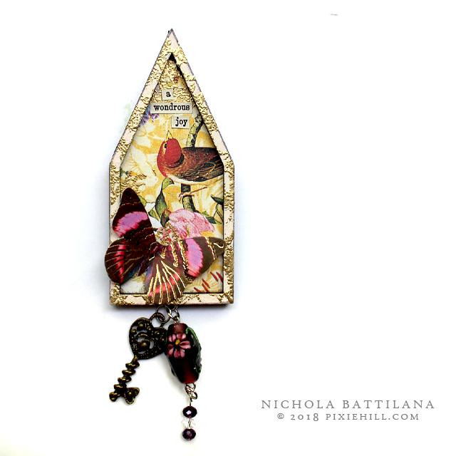 Graphic 45 Floral Shoppe House 'Pins' - Nichola Battilana