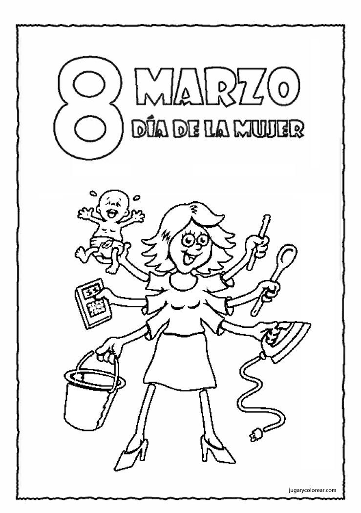 Dibujo Día de la mujer trabajadora para colorear
