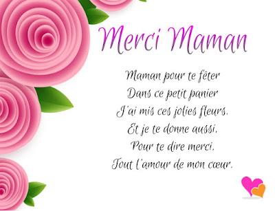 Poème fête des mères : merci maman