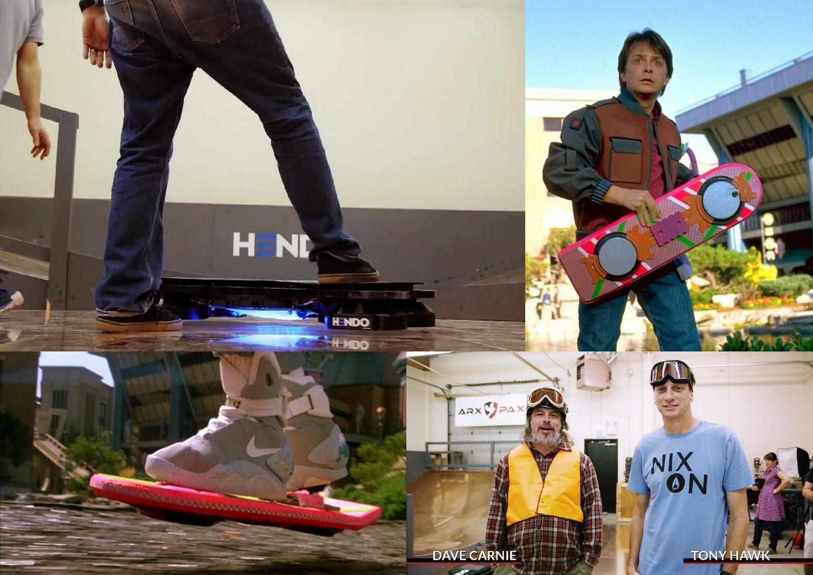 Hoverboard,De Volta para o Futuro, Skate sem rodas,Skate Flutuante, Hendo Hoverboard,Tony Hawk,Mcfly