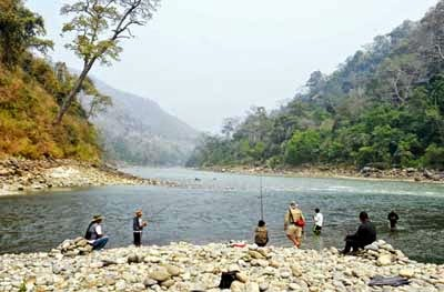 Anglers try their luck at Tribeni
