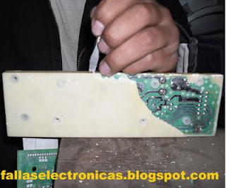 como quitar resina dura de tarjeta electronica