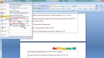 Membuat Dokumen PDF di Ms.Word 2007 + Contoh