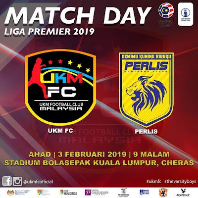 Live Streaming UKM FC vs Perlis Liga Super 3.2.2019