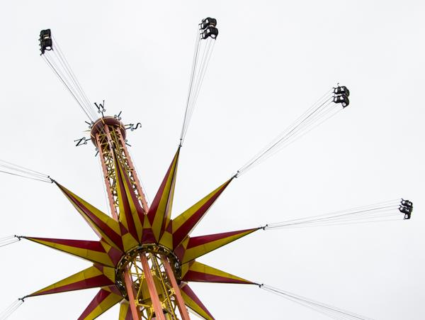 PauMau blogi nelkytplusbloggari nelkytplus asukuva Tykkimäki huvipuisto Kouvola laite Starflyer keinu