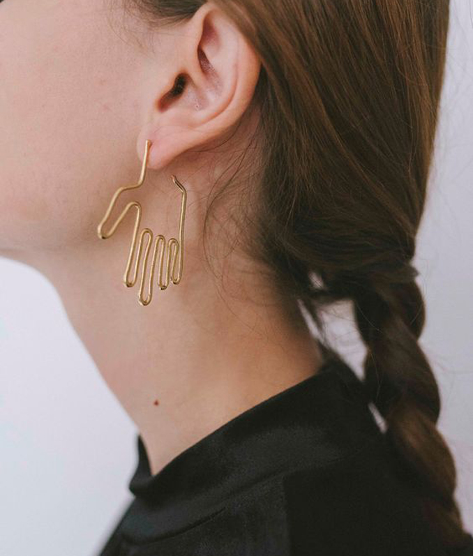 ReadyTwoWear: wire hand earrings