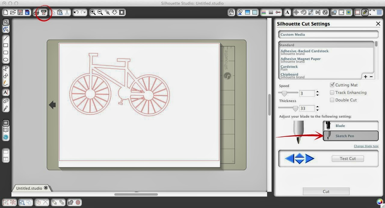 Sketch pen, Silhouette, tutorial, beginners, Silhouette Studio, send to silhouette