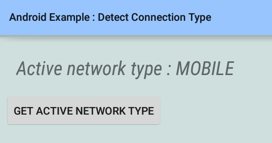 android - How to detect connection type