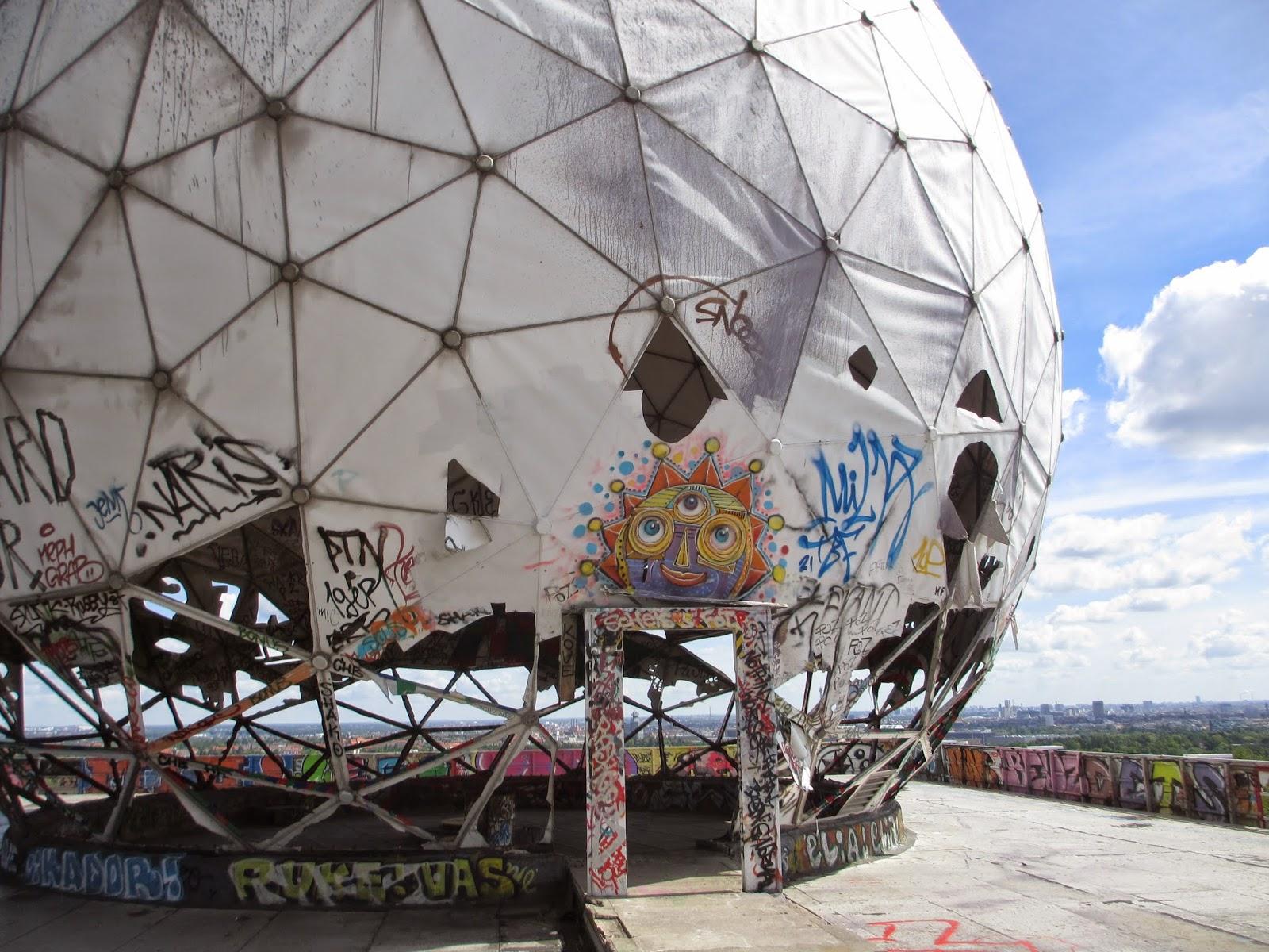 Graffiti Behind The Museum Doors Beyond