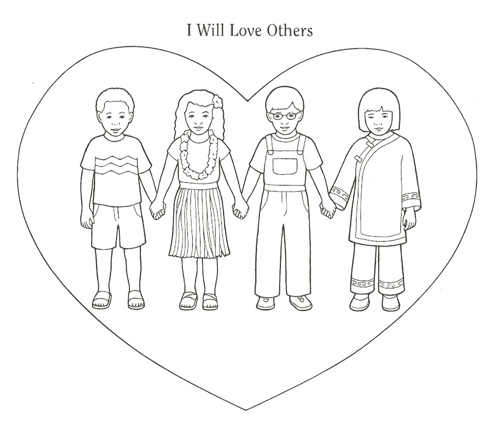 showing love coloring pages - photo#33