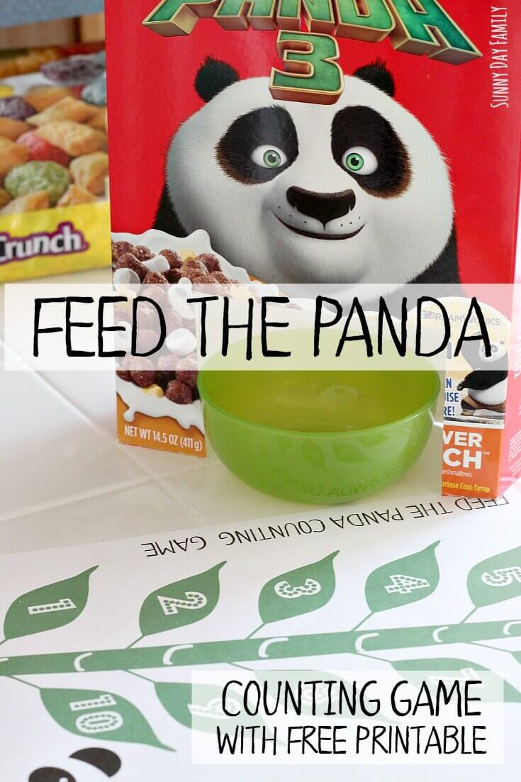 Feed the Panda! A fun way to learn numbers for kids and a great counting activity for preschoolers! Make snack time fun with these fun counting game - includes a free printable game board!