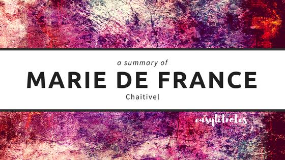 summary of marie de france's chaitivel