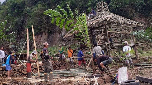 Antusias Warga Desa Jambangan Menyambut Acara Ngopi Bareng Forkopimda
