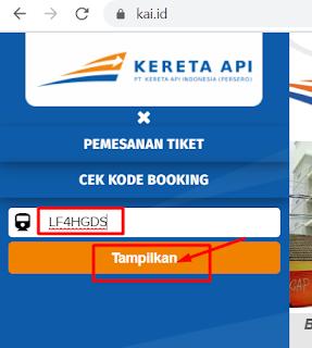 Patikan Valid, Ini Cara Cek Kode Booking Tiket Kereta Api Online