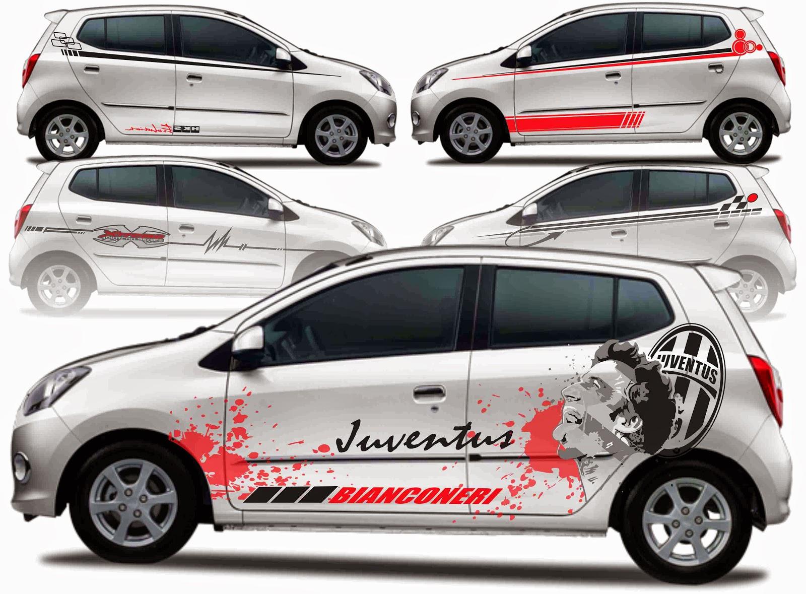 Cutting Sticker Mobil Xenia Silver Modifikasi Style