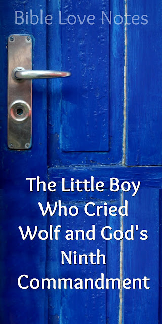 """The story of """"The Little Boy Who Cried Wolf"""" has a great scriptural application. This 1-minute devotion explains. #BibleLoveNotes #Bible"""