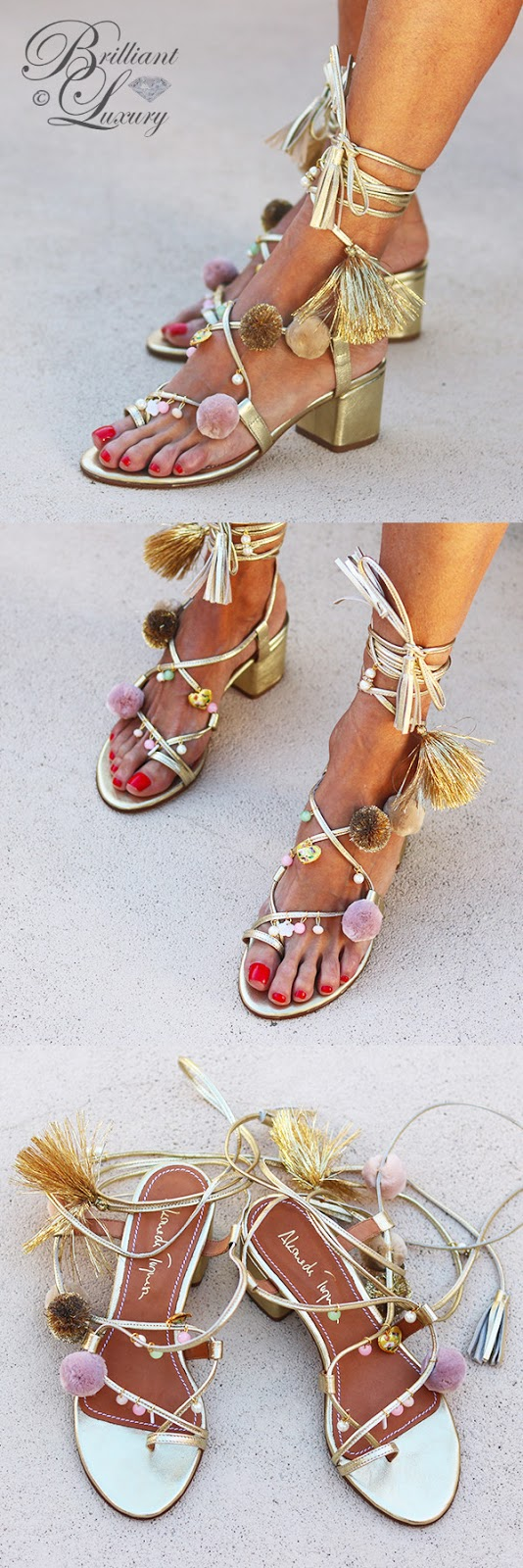 Brilliant Luxury ♦ Alameda Turquesa Adele wedges golden