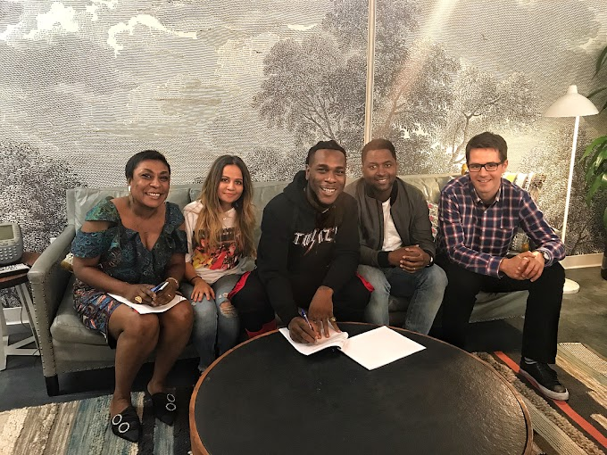 Burna Boy Signs Deal With Universal Music Company (See Photos)