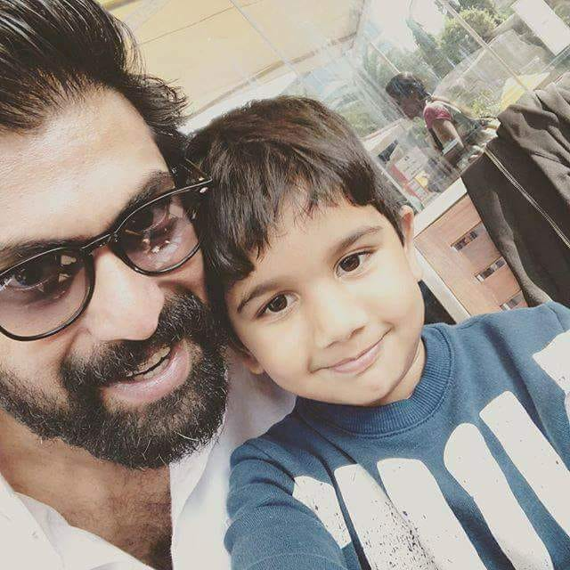 rana daggubati Selfie with allu arjun son