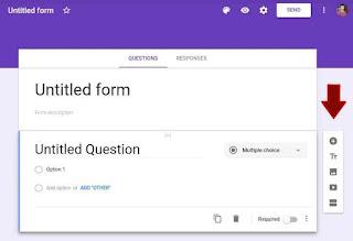 Icon sidebar google form