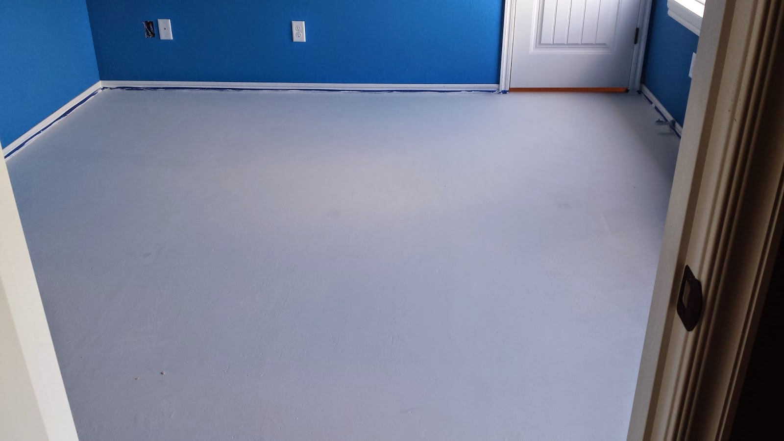 Painted Plywood Subfloor