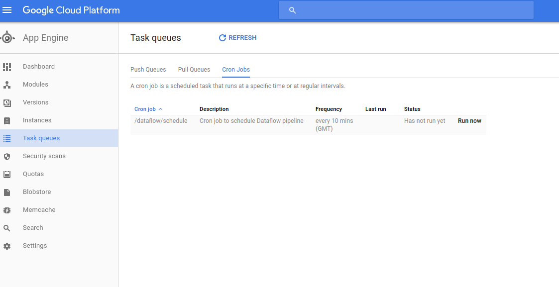 Schedule Task on Google Cloud (Firebase)