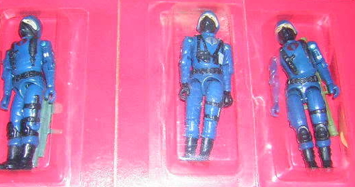 1982 JC Penny Cobra Trooper 3 Pack, Variant Bazooka, Cobra Trooper, Cobra Officer, Catalog, Mail Away, MIB, Bubbled