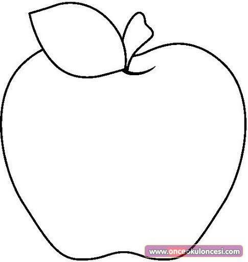 Yarım Elma Boyama Sayfası Yazdırılabilir Boyama Sayfaları