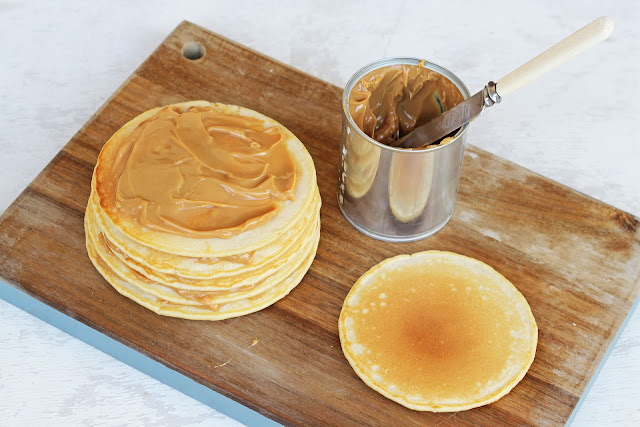 Pancakes με καραμέλα γάλακτος Dulce De Leche