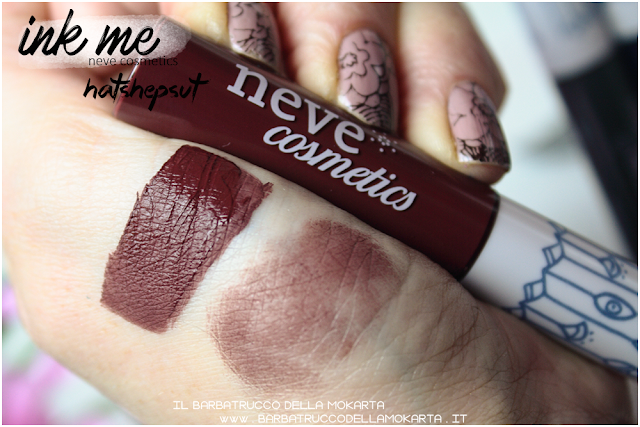 HATSHEPSUT SWATCHES INKME EYELINER NEVE COSMETICS REVIEW RECENSIONE