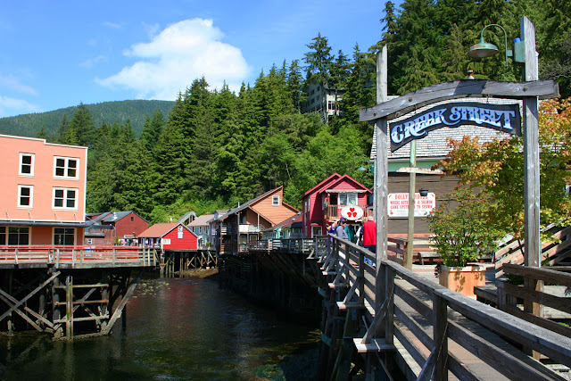 Creek Street, Ketchikan's former Red Light district, copyright Carl Dombek