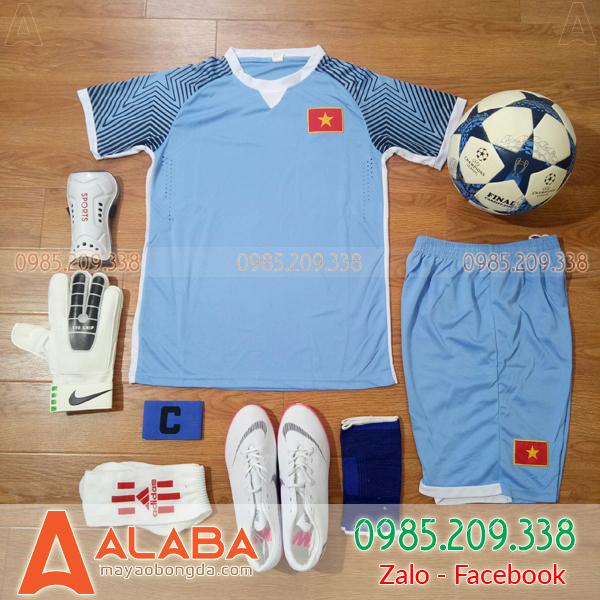 Áo Đội Tuyển Việt Nam 2018 Training Xanh