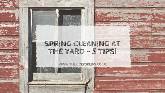 Spring Cleaning At The Yard 5 Tips The Rider 39 S Reins