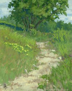 landscape painting nature walk hike path jordan river parkway