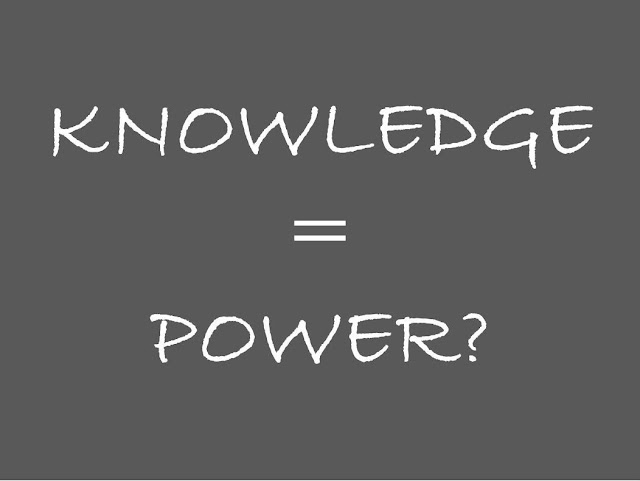 Knowledge is power?