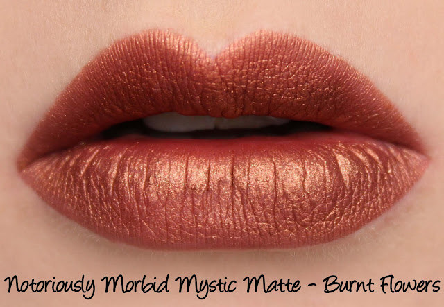 Notoriously Morbid Burnt Flowers Mystic Matte Swatches & Review